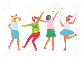 Women's Christmas Party Clipart