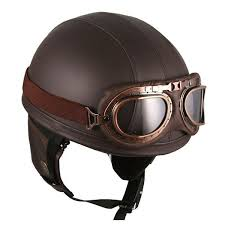 the vintage leather brown biker helmet by hanmi is the coolest looking head protector you ve ever seen ride in style like they did back in the ole days