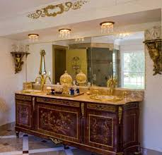 master bath with recessed lights with crystals