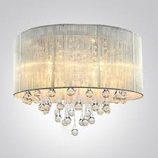 most recently released wall mount crystal chandeliers with regard to silver drum shade and rich crystal