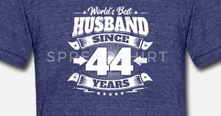 wedding day 44th anniversary gift husband hubby uni tri blend t shirt spreadshirt