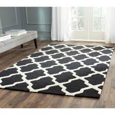 safavieh heritage black ivory 7 ft 6 in x 9 area rug