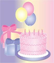 birthday cake and balloons and gifts.  And Free Birthday Clip Art Image Cake Balloons And  Presents Gifts For Cake And Balloons A