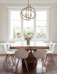 view bench rope lighting. contemporary dining room features a rope sphere chandelier hanging over square wood table with glass top lined eames molded plastic armchairs view bench lighting