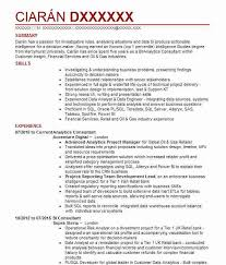 Accenture Analyst Sample Resume Impressive Analytics Consultant CV Example Accenture Digital Farringdon