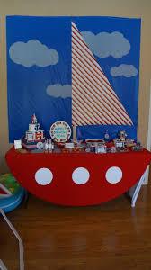 Sailor Birthday Party Ideas. Dessert Table.