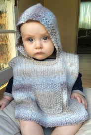 free knitting pattern for hooded baby poncho