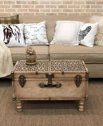 cutting edge stencils shares how to makeover over a vintage trunk into a coffee table using