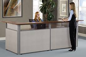 cubicles ofm rize workstations officemakers ofm reception desk