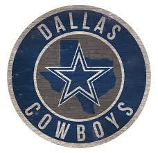 Dallas Cowboys Checks Designs Dallas Cowboys Sign Wood 12 Inch Round State Design Dallas