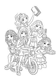 Lego Friends Coloring Pages For Girls