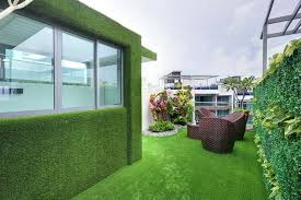 rooftop house clad with artificial grass