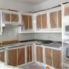 spray painted base cabinets