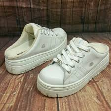 skechers platform sneakers. skechers shoes - skechers 90s white slip on chunky platform sneakers
