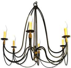 creative cutom diy french country chandelier with black iron frame and 6 lamps for kitchen or dining room ideas