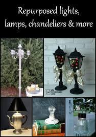 repurposed lights lamps chandelierore myrepurposedlife com