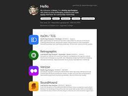 App Resume Material Mobile App Designer Resume By Seven On Dribbble