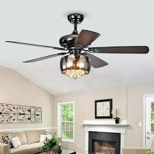 black ceiling fan with light and remote nettle 3 light shaded glass and crystal 5 blade inch pear black hunter 52 in basque black ceiling fan with light