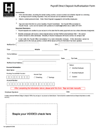 Employee Direct Deposit Authorization Agreement Hsbc Direct Deposit Authorization Form Fill Online