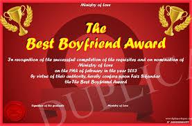 The Best Boyfriend Award
