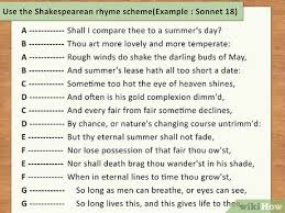 how to write a sonnet with pictures