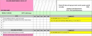 Building Maintenance Checklist Template Barca Fontanacountryinn Com