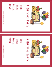 party invitation free personalized birthday invitation cards maker