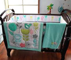 baby bedding patterns me green birds pattern crib bedding set cotton baby bedding 4 quilt bed