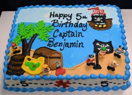 127 Pirate Themed Birthday Sheet Cake