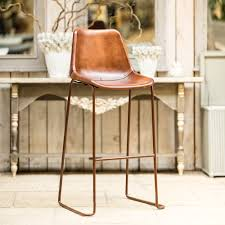 brown leather bar stools. Buy Chaise Vintage Bar Chair \u2013 Brown Leather | Unusual Furniture Burford Garden Company Stools W