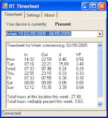 Bttimesheet Automatic Timesheet By Detecting Your Bluetooth Phone