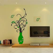 home decal fun diy 3d removable flower vase
