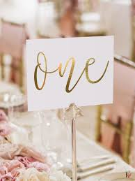 table names wedding. Gold Foil Table Numbers - Number Cards Double-sided Wedding Event With By Paper Charms Names