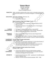 Criminology Resume Resume For Study