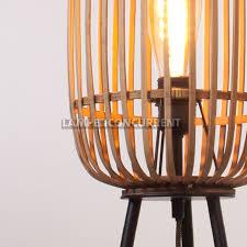 Staande Rotan Lamp Malacca Lampenconcurrent