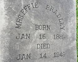 Effie Bradley (1888-1949) - Find A Grave Memorial
