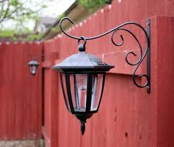 hanging solar patio lights. Plain Solar Solar Lights Hung On Plant Hangers For Your Fence Great Idea In Hanging Patio Lights N