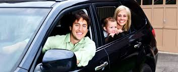 family automobile with auto insurance