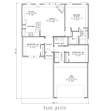 Kitchen Floor Plans Designs One Story House Plans With Open Concept Plan 1275 Floor Plan