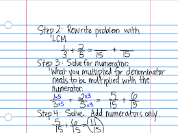 Adding and Subtraction Fractions With Unlike Denominators ...
