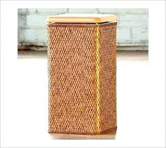 wicker clothes basket hamper white wooden lattice laundry small hampers for clot