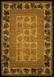 united weavers genesis pine cones lodge rug natural 130 43717 rustic area rugs by arearugs