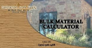 River Rock Coverage Chart Bulk Material Calculator Contractors Stone Supply