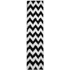 nice black and white runner rug chic luxurious soft black white chevron runner rug 18