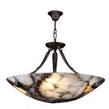 pompeii 4 light flemish brass natural quartz small bowl pendant