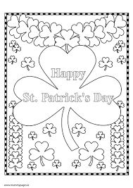 Small Picture St Patricks Day shamrock Colouring Page MummyPagesMummyPagesie