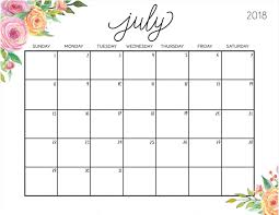 planning calendar template 2018 july 2018 planning calendar template calendar 2018 pinterest