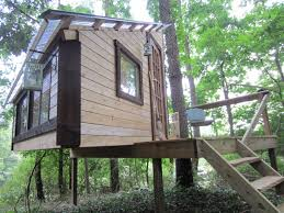 Exterior:Unique Diy Treehouse Design With Classic Hip Roof And Timber Walls  Great Diy Kids
