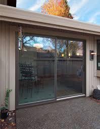 lumera swing door system simonton contemporary narrow framed sliding glass door painted exterior