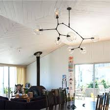 black chandelier modern chandelier branching bubbles glass lampshade for living room bedroom gold black fixture black